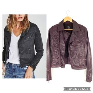 AG The Biker Jacket in Vintage Leatherette